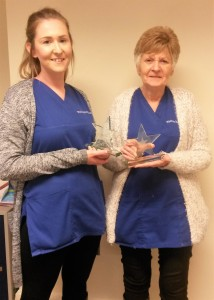 Val & Sheona having received the Christmas Star Award as featured on BBC North West Tonight.