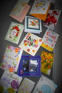 Thank you cards received from grateful relatives of our residents